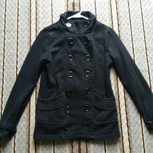 Adorable Side Button Dress Coat